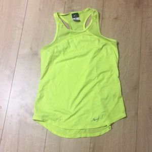 Nike Dri-Fit Neon Yellow Tank, Small
